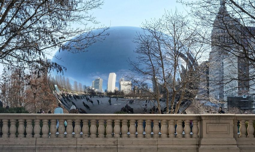 The Bean Tree Railing Bridge - Man Made Structure Outdoors Sky Day No People City Architecture Chicagoshots Chicago, Illinois Chicago Downtown Chicago Skyline Chicago Architecture Chicago Cloud - Sky Travel Destinations Downtown District Architecture City Cityscape Modern Urban Skyline ChicagoBean