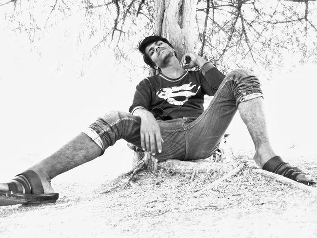 Man EyeEm Selects Monochrome monochrome photography Attitude Attractive Tree Tree Trunk Shadow EyeEm Best Shots EyeEmNewHere EyeEm Gallery