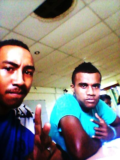 a lil' pose during class wif gitz...
