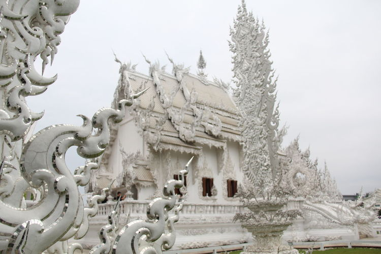 Thailand Thailand_allshots Thailandtravel Thailand Photos Thailand🇹🇭 Temple - Building Templephotography Buddhism Buddhist Temple BUDDHISM IS LOVE Chiang Mai | Thailand Chiangmai Chiang Mai Thailand Sky Cold Temperature Winter Nature No People Day Tree Snow Architecture Creativity Built Structure Art And Craft Belief Sculpture Representation Religion Water Building Exterior Outdoors