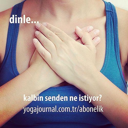 Repost from @yogajournalturkiye via @igrepost_app, Kalbini dinle... Havadatoprakkokusu