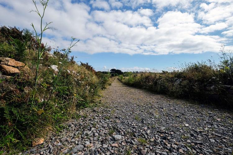 Gravel pathway. Jersey, Channel Islands Grass Jersey Channel Island UK Path Perspective St. Ouen Unknown Gravel Off The Beaten Path Walkway Way Ahead