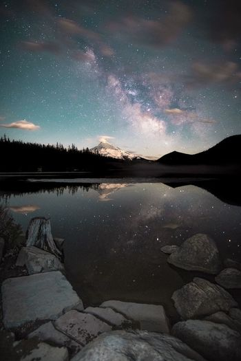 Lost Lake, OR Star - Space Night Lake Astronomy Beauty In Nature Nature Star Field Constellation Scenics Long Exposure Sky Space Water Outdoors Mountain Milky Way No People Galaxy Astrology Sign