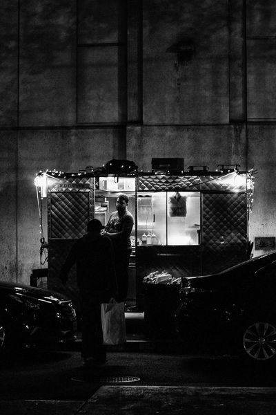 Appetite Architecture Black And White Business Finance And Industry Food Food And Drink Light Mer Night People Real People Shadowy Streetphoto_bw Streetphotography Two People Water