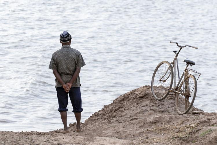 Full length of man on shore
