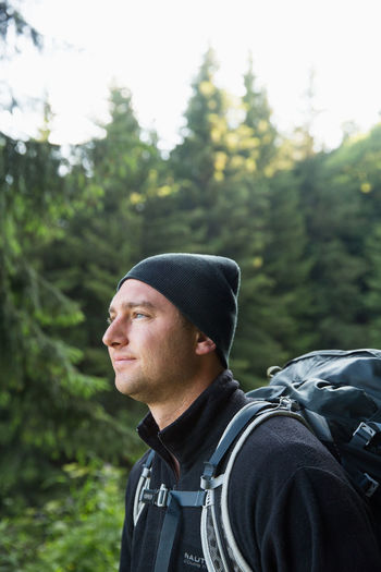 Backpacking Hiking Tour Du Mont Blanc Active Lifestyle  Adventure Adventurous Soul Backpack Backpacker French Alps Green Color Leisure Activity Lifestyles Nature One Person Outdoors Portrait Real People Young Adult Young Men