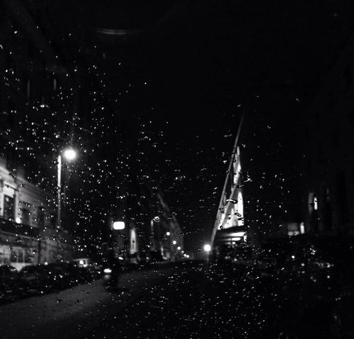 Black&white City Life Ernesto Galizia Motion Night Rain Roma By Night The Way Forward