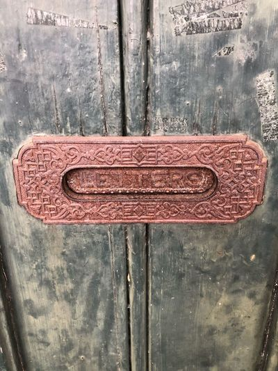 Metal Close-up Communication No People Entrance Door Text Rusty Old Weathered Sign Day Wood - Material Textured  Outdoors Wall - Building Feature