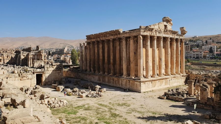 No People Place Of Worship Old Clear Sky Day Nature Ruined Tourism Archaeology Architectural Column Travel Destinations Travel Ancient Civilization Built Structure Architecture Ancient History The Past Old Ruin Lebanon Baalbek Jupiter Middle East The Mobile Photographer - 2019 EyeEm Awards