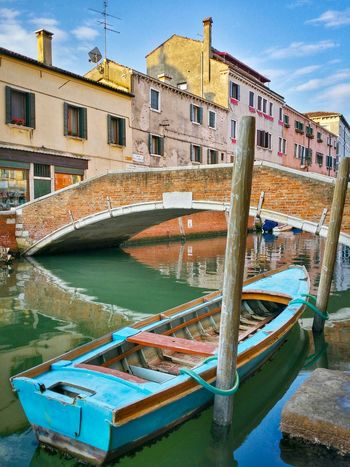 Venice Veneto Italy Travel Travel Photography Traveling Mobile Photography Architecture Historical Buildings Bridges Rowing Boats Boat Poles Canals Water Reflections And Shadows