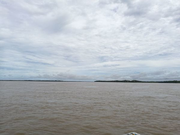 Water No People Beauty In Nature Landscape Horizon Over Water Nature Sky Cloud - Sky Tranquility River View Amazonas River Colombia