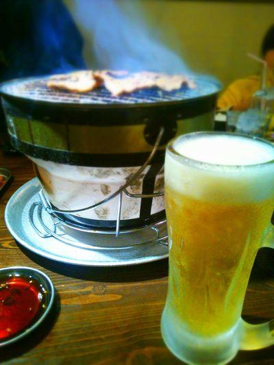 長男、高校合格した~!ビールが美味しい~♪ 焼き肉♡ 合格 Enjoying A Meal Drinking Beer Happy Day
