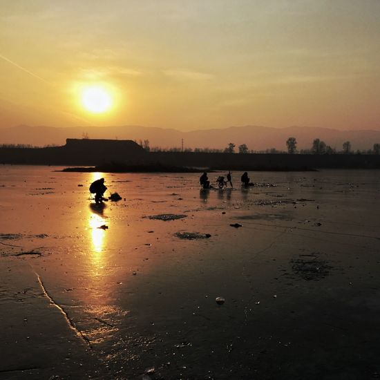 Silhouette China IPhone Photography Sunset People