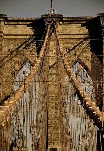 Bridge walk America Architecture Bridge Brooklyn Brooklyn Bridge  Brooklyn Bridge / New York Brooklynbridge Building Built Structure Cable New York New York City Newyork USA USA Photos