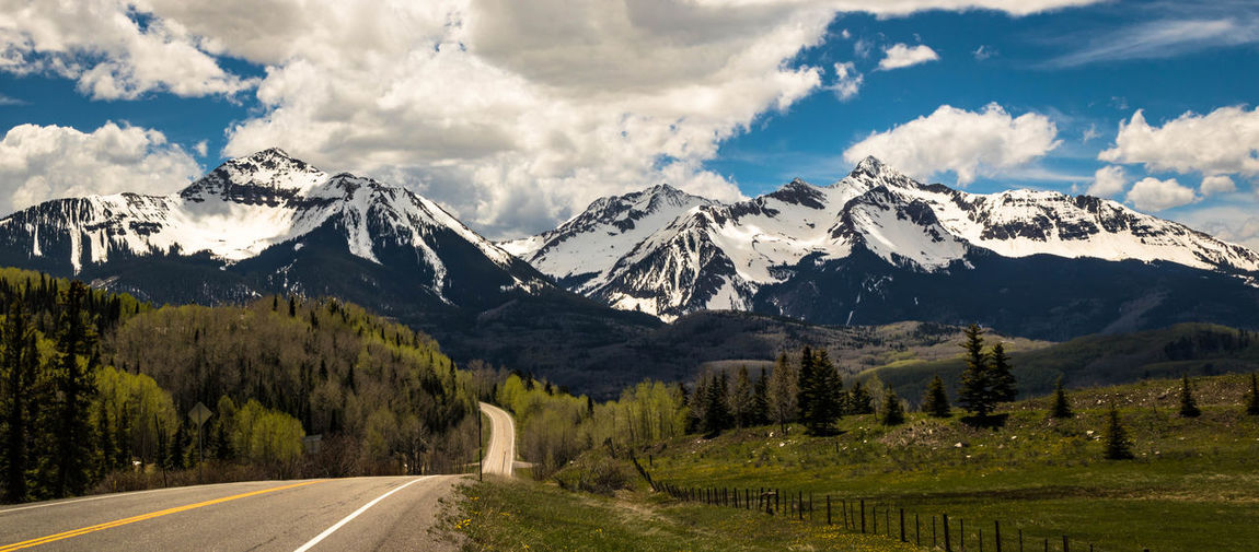 The Rocky Mountains of Colorado are a truly stunning sight. Mountain Cloud - Sky Mountain Range Scenics Outdoors Sky No People Road Snowcapped Mountain Landscape Beauty In Nature Rocky Mountains Colorado EyeEmNewHere Perspectives On Nature