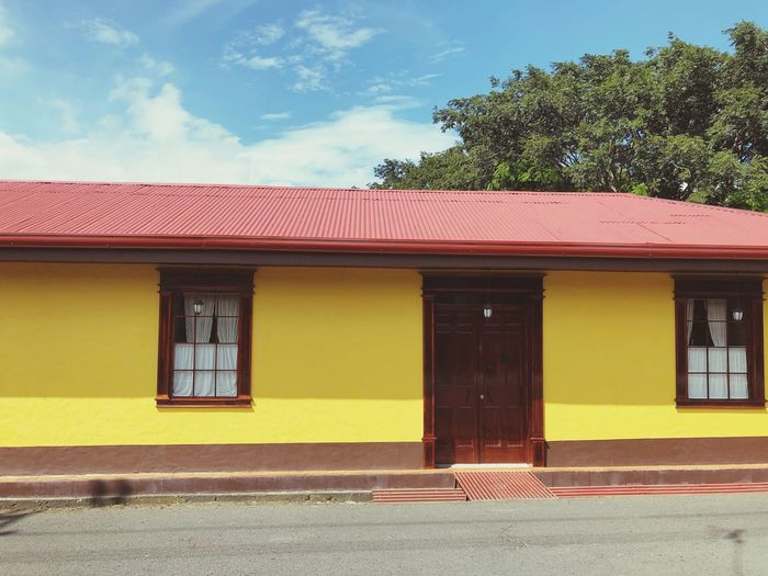Exterior Of Yellow Building
