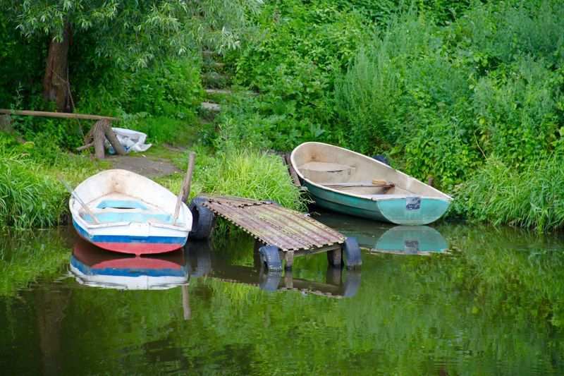 Boat Country Life Countryside Dubrovitsi EyeEm Nature Lover Home Is Where The Art Is Green Green Color Jetty Landscape Nature Nautical Vessel No People Non-urban Scene Outdoors Podolsk River Russia Side By Side Summertime The Great Outdoors - 2016 EyeEm Awards Tranquility Transportation Water Showcase July