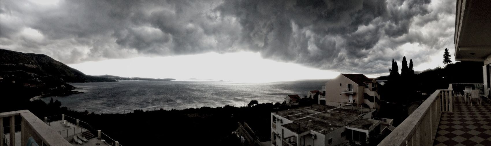 Storm Sea View Taking Photos Hello World