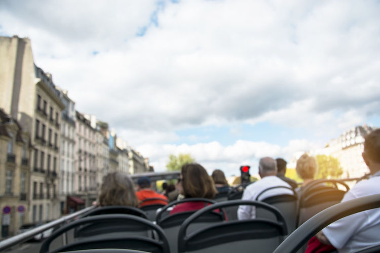 Blurred of people on open top tourist bus in city, one day trip by tour bus in Europe Cloud - Sky Mode Of Transportation Transportation Sky Motor Vehicle Group Of People Day Travel Adult City Land Vehicle Leisure Activity Outdoors People Building Exterior Blurred Tourist Bus Tourist Attraction  City Europe One Day Trip Open Air Education Learning