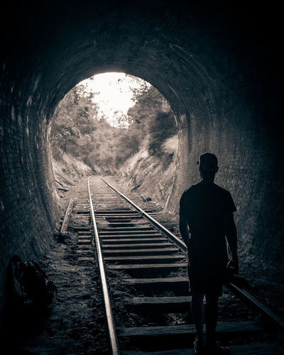 Dark Silhouette Tunnel Steps The Way Forward One Person Australia EyeEm Melbourne Built Structure Bridge - Man Made Structure Outdoors Transportation Connection Road Sony Travel Destinations One Man Only People