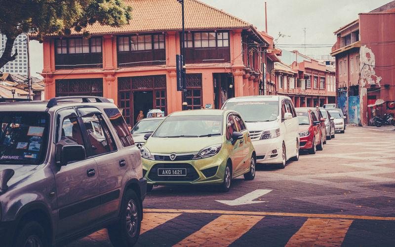 melaka, malaysia ASIA Cars City Melaka Architecture Building Exterior Built Structure Car City DataranPahlawan Day Land Vehicle Malacca Malaysia Mode Of Transport No People Outdoors Sky Street Streetart Town Transportation