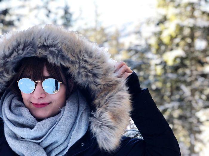 Love Winter Warm Clothing Cold Temperature Headshot Portrait Snow One Person
