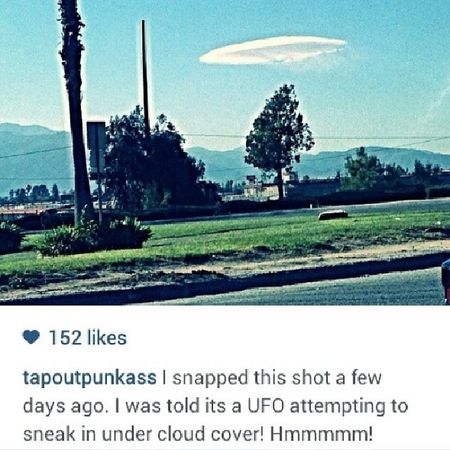 I had to share this @tapoutpunkass . Every time I see a cloud like this it reminds me of that movie The Forgotten and I always think it is a UFO hovering. UFO Clouds Wearenotalone