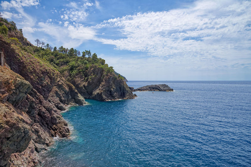 Bonassola coastline - Ligurian Sea - Liguria - Italy Bonassola Beach Beauty In Nature Cliff Cloud - Sky Day Eroded Framura Horizon Horizon Over Water Idyllic Land Liguria Nature No People Outdoors Rock Rock Formation Rocky Coastline Scenics - Nature Sea Sky Tranquil Scene Tranquility Water
