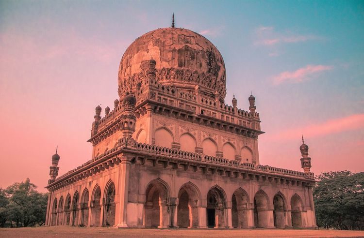 Qutb Shahi tombs Hyderabad Monuments Telanganatourism Eye4photography  EyeEm Best Shots EyeEmBestEdits EyeEm Selects India_clicks Landscape Qutb Shahi Dynasty Dome Sunset Place Of Worship Sky Architecture Built Structure Building Exterior Tomb Historic Tombstone Mosque History Civilization Archaeology Ancient Civilization Historic Building