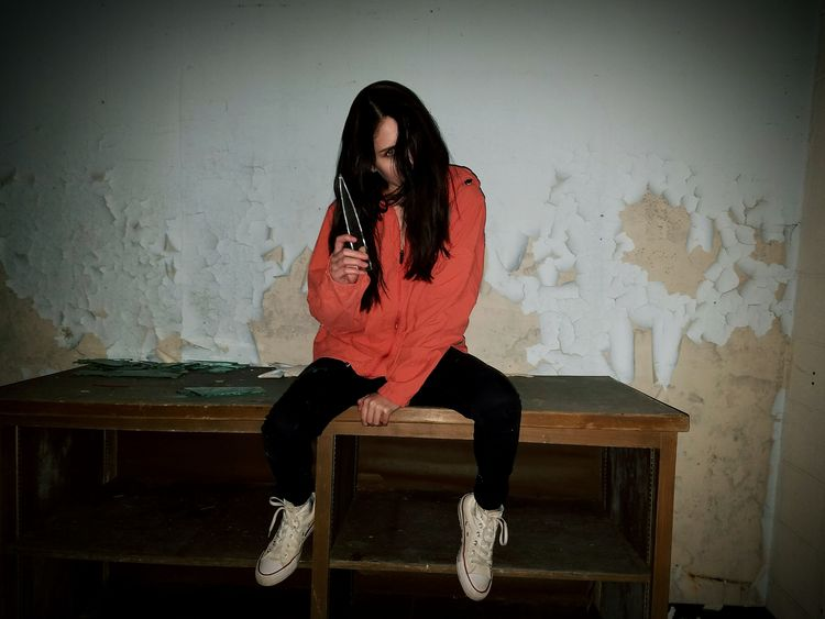 Abandoned Abandoned Places Creepy Glass Dark Scary Pealing Paint One Person One Woman Only