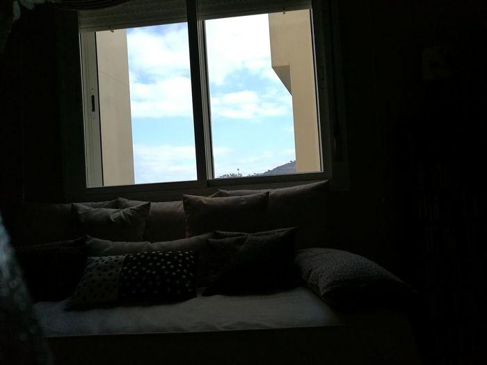 Skyblue My Home! Cielo Azul Y Nubes Ventanal Window Light