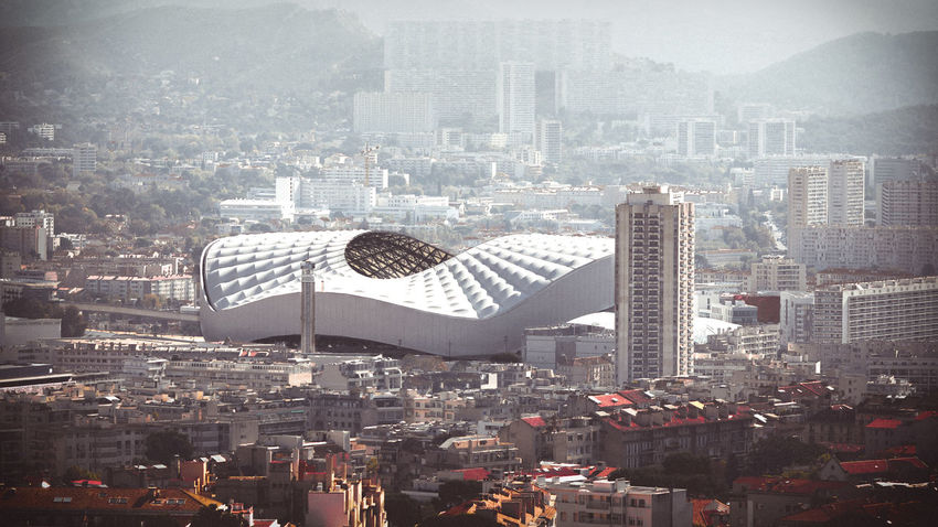 Le vélodrome de Marseille ⚽⚽⚽🏆 No People Day Outdoors City Cityscape Stadium Stade Velodrome High Angle View Town TOWNSCAPE Buildings Sport Football Football Stadium Marseille Fog Foggy Foggy Day Daylight Color Selection Urban Urbanphotography Urban Photography EyeEmNewHere An Eye For Travel