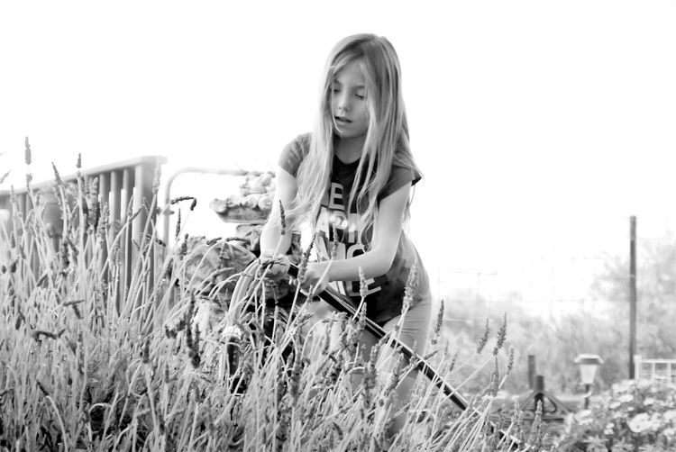 Casual Shooting Blond Hair Casual Clothing Long Hair Leisure Activity One Person Summer Nature Outdoors Day Standing Sky Bnw_captures Bnw_shot Bnw_globe