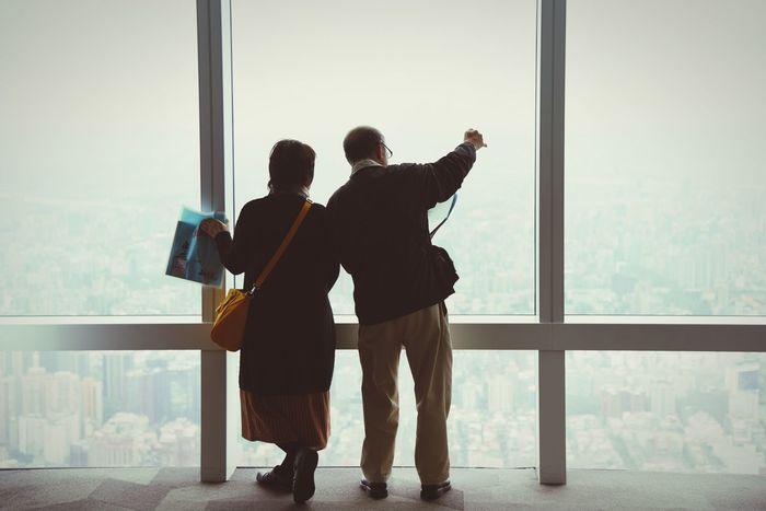 恩愛的老夫婦 Taipei 101 Sweet Love❤❤❤