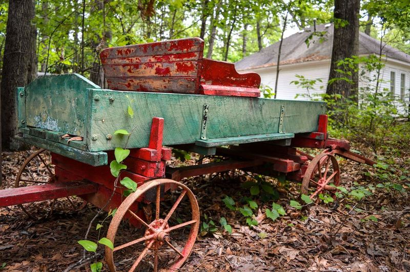 Stately Oaks Plantation Transportation Mode Of Transport Wagon Wheel No People Red Agriculture Wood - Material Land Vehicle Rusty Rural Scene Old-fashioned Tree Day Outdoors Nature Plantation Stately Oaks Plantation Georgia USA Travel Discovering Exploring EyeEm Best Shots The Street Photographer - 2017 EyeEm Awards The Great Outdoors - 2017 EyeEm Awards