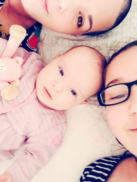 Momiesprideandjoy MyLove❤ Tiny Selfie Womenpower Womanselfie Baldwomen Snow White MyDaughters Sisters ❤