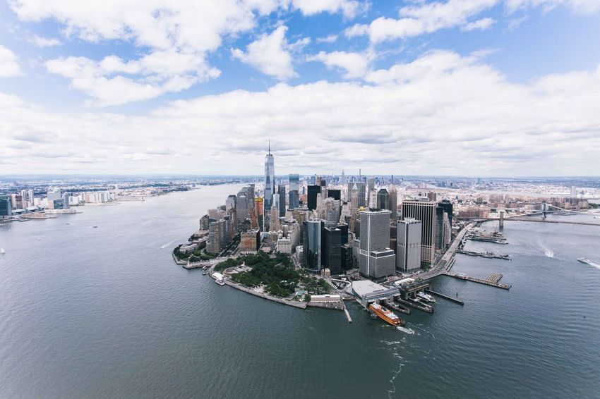 Drone  Helicopter Manhattan Manhattan Skyline Manhattan New York New York New York City New York ❤ Skyline The Big Apple Architecture Bay Building Building Exterior Built Structure City Cityscape Cloud - Sky Day Financial District  Manhattan Bridge Modern Nature Nautical Vessel No People Office Building Exterior Outdoors Sea Sky Skyscraper Transportation Travel Destinations Water Waterfront