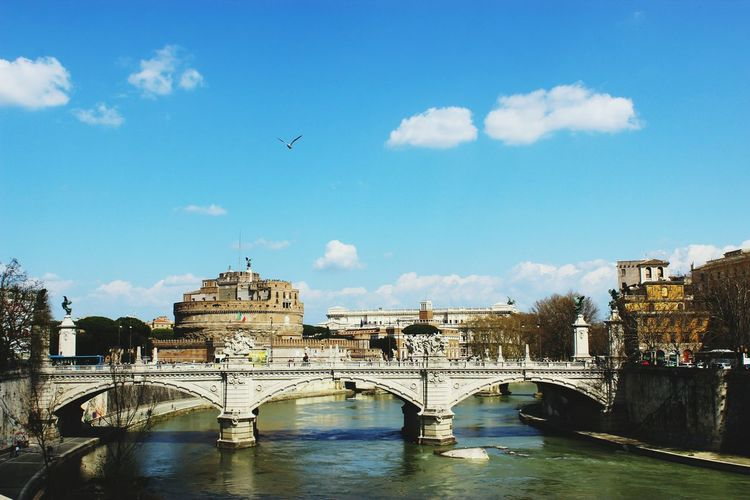 Classic Rome , Loved Travellife Goodlife Architecture Built Structure Building Exterior Connection Bridge - Man Made Structure City River Water Travel Destinations Arch Sky Engineering Transportation Travel Arch Bridge Waterfront Tourism History Famous Place Day