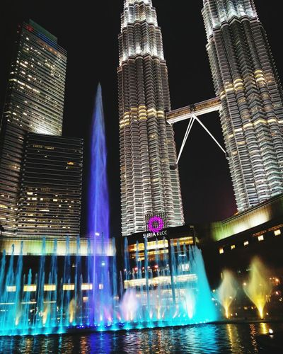 Nightshot Night City Klcc Suria KLCC Fountainshow