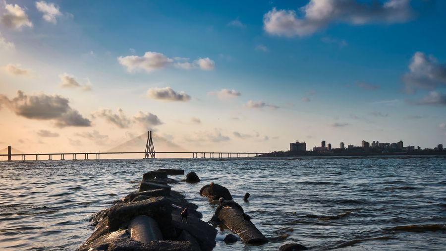Bridge in sea