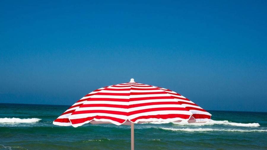 Sunshade on seaside