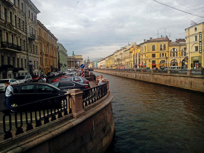 Architecture City Canal Water Built Structure Railing Waterfront Cityscape Outdoors City Russia St.petersburg Санкт-Петербург Питер Самый лучший город Travel Griboyedov Canal канал грибоедова