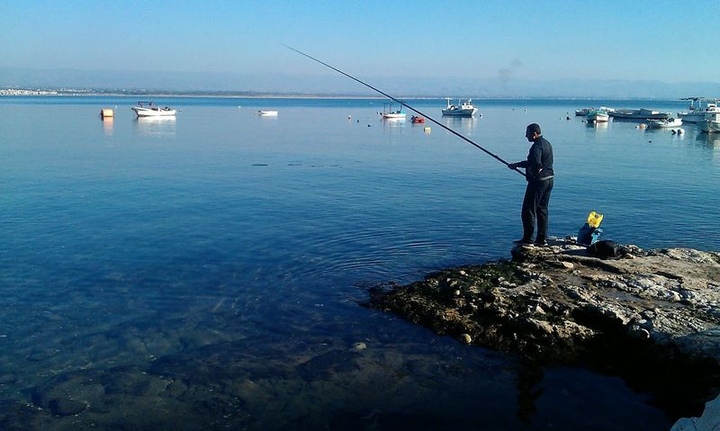 Sea Fishing Water Horizon Over Water Outdoors Nature Latakia  Syria