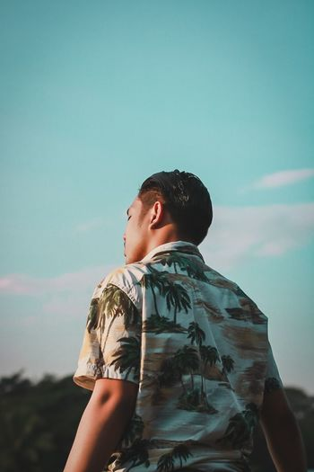 Alone. Alone Man Portrait Standing Headshot Black Hair Sky Thoughtful Posing Moments Of Happiness