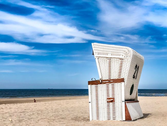Beach Chair Buhne 16 Sylt Beach Chair Sea Sky Water Cloud - Sky Land Beach Horizon Tranquil Scene Horizon Over Water Sand Beauty In Nature Tranquility No People Nature Scenics - Nature Day Travel Destinations Outdoors Sunlight The Still Life Photographer - 2018 EyeEm Awards