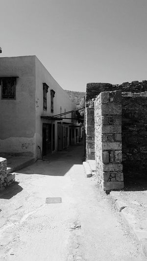 Fortress Historycal Place Spinalonga The Island Of The Lepers Lepers Community Plaka Sick Sad Mood