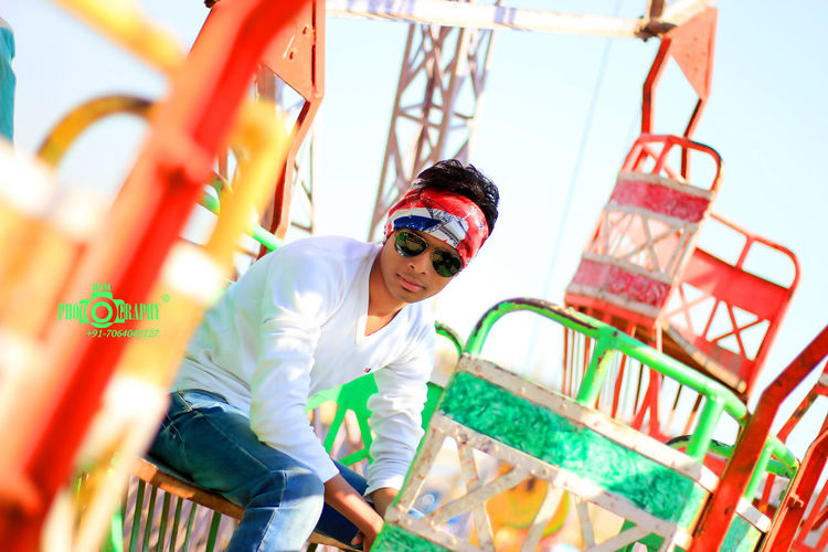 Colourful DNM Photography Dawood Nurson Mallik Bargarh Dhanuyatr Casual Clothing Day Front View Happiness Leisure Activity Lifestyles Looking At Camera One Person Outdoor Photography Outdoors Portrait Smiling Young Adult