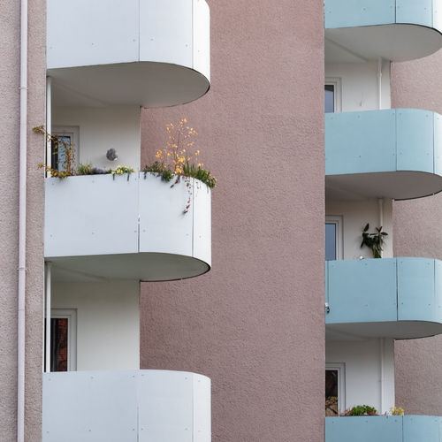 Balconies Architecture No People Built Structure Day Ralfpollack_fotografie Fujix_berlin Building Exterior Building Residential District Potted Plant Wall - Building Feature Balcony Apartment City House Outdoors