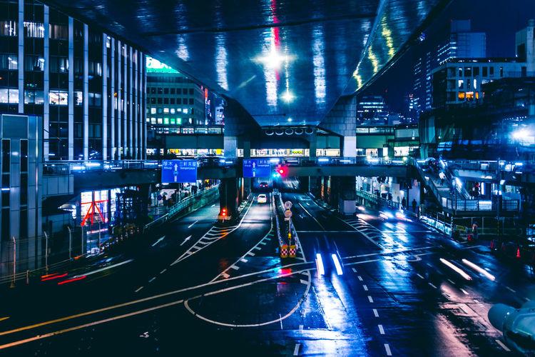Cyberpunk Japan Rainy Days Reflection Shibuya Shibuyascapes Tokyo Architecture Atmospheric Mood Bridge Bridge - Man Made Structure Building Exterior Built Structure City City Life Connection High Angle View Illuminated Light Long Exposure Mode Of Transportation Motion Night Nightlife No People Outdoors Rainy Day Rainy Season Road Sci-fi Science Fiction Sign Speed Street Technology Trafffic Traffic Transportation Urban Urban Landscape The Architect - 2018 EyeEm Awards HUAWEI Photo Award: After Dark Humanity Meets Technology My Best Photo