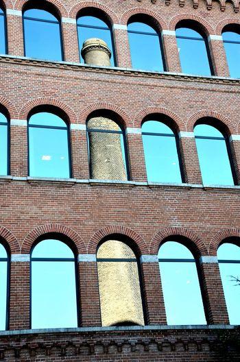 Building Exterior Industrial Photography Spiegelung Industriekultur Industrie Spiegelbild Windowmirror Window View Window Sill Schornstein Chimney Blue Hour Blue Blau Fenster Zum Hof The Graphic City